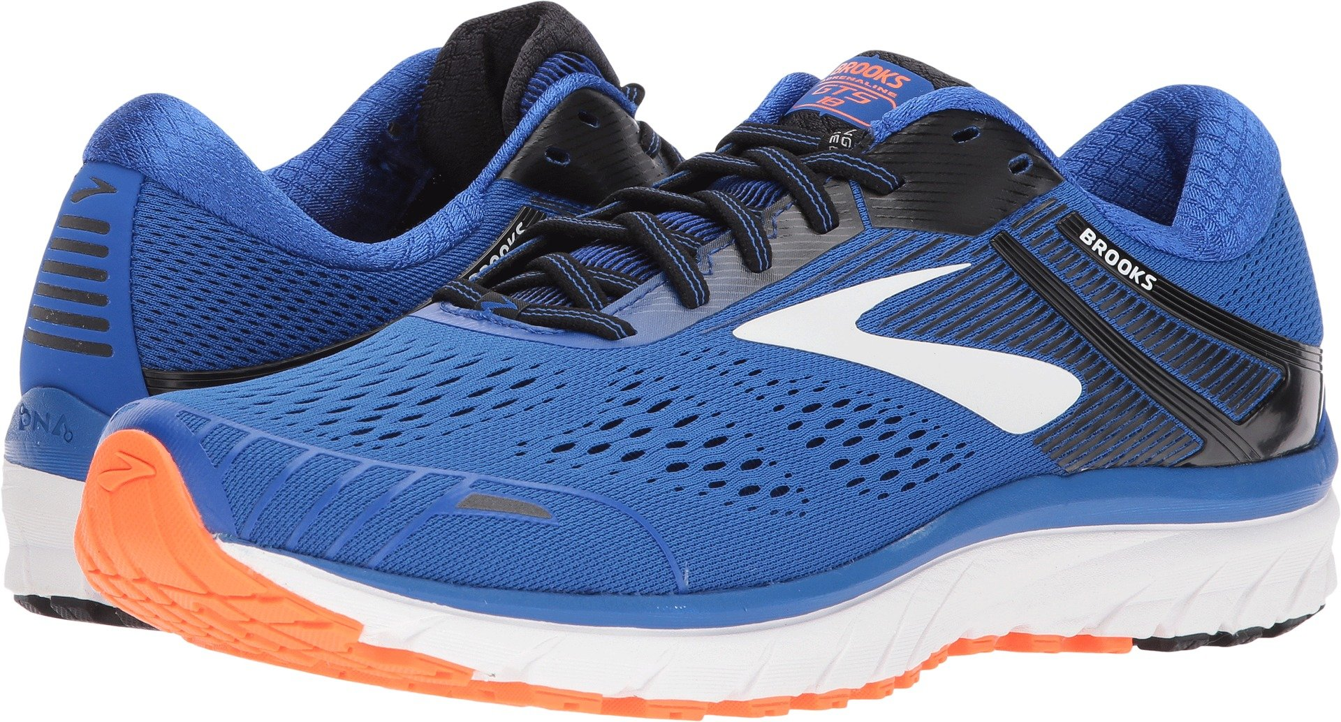 03b56015e64 Galleon - Brooks Men s Adrenaline GTS 18 Blue Black Orange 11 D US D (M)