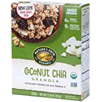 Nature's Path Organic Granola Cereal, Chia Plus Coconut Chia, 12.34 Ounce Box