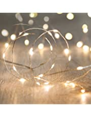 Lights4fun Battery Operated Fairy Lights with 20 Micro LEDs on Silver Wire