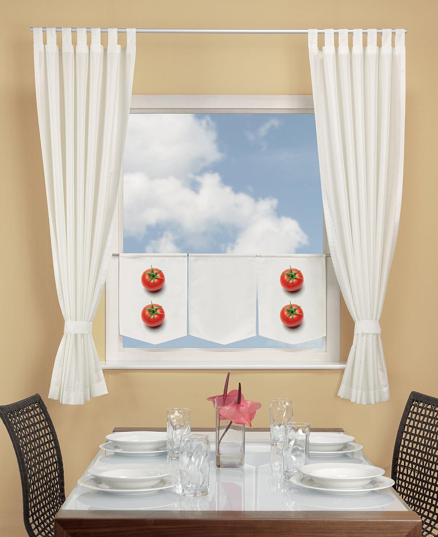 Horn textiles Calypso 6 Fensterbild Tomate 30 cm x 45 cm halbtransparent