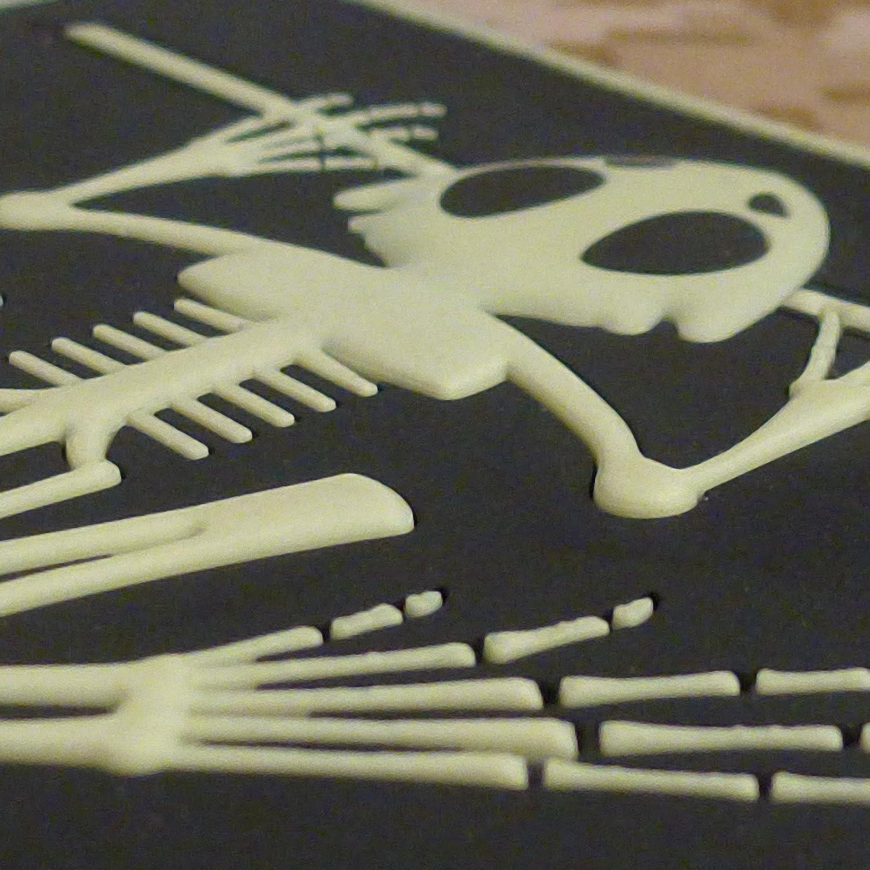 US Navy Seals Bone Frog Skull Skeleton DEVGRU Morale PVC 3D Touch Fastener Patch