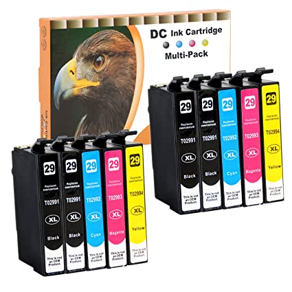 D&C 10er Set (B/C/M/Y) Epson 29XL Cartuchos de Tinta Cartuchos de ...