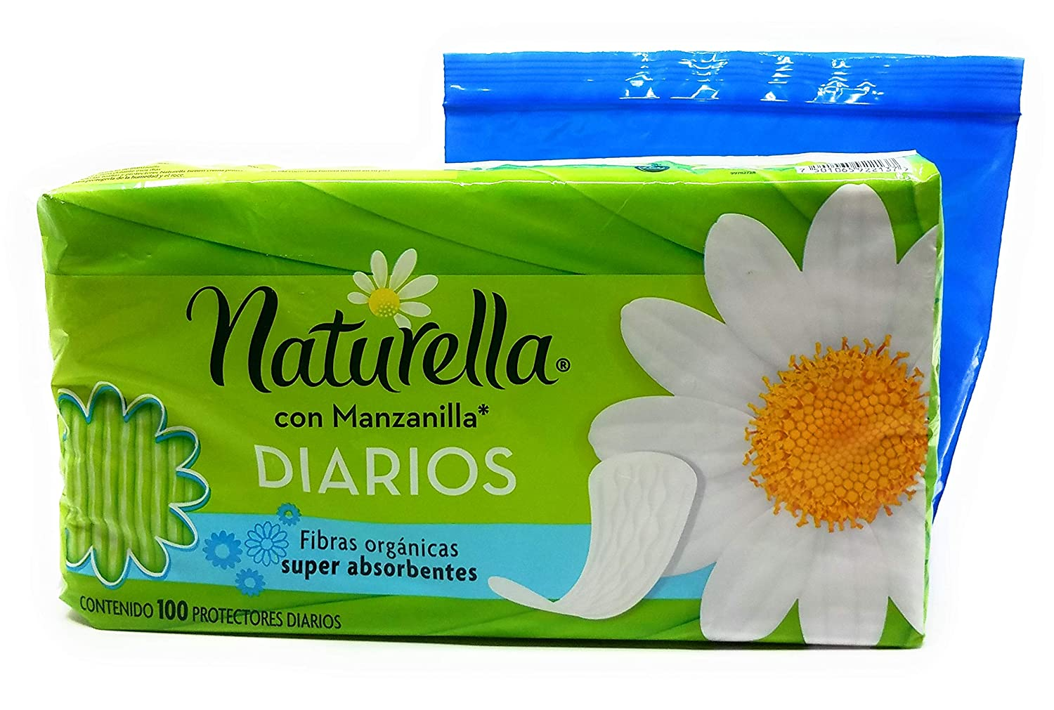 Amazon.com: Naturella con Manzanilla Diarios, 100 Count and Tesadorz Resealable Bags: Health & Personal Care