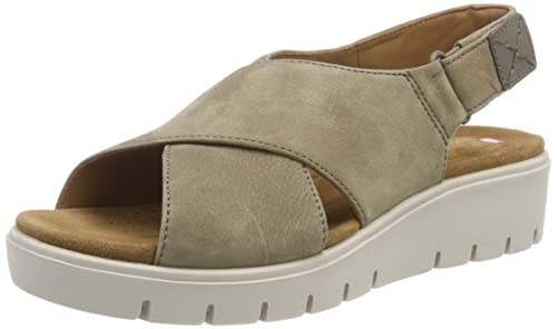 36972c76a2eb0 Clarks Women s Un Karely Hail Nubuck Sage Leather Fashion Sandals-4.5  UK India (
