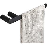 Bathroom Accessories Towel Rail Rack Bar Toilet Paper Holder Robe Hook Stainless Steel Black (Hand Towel Rail)