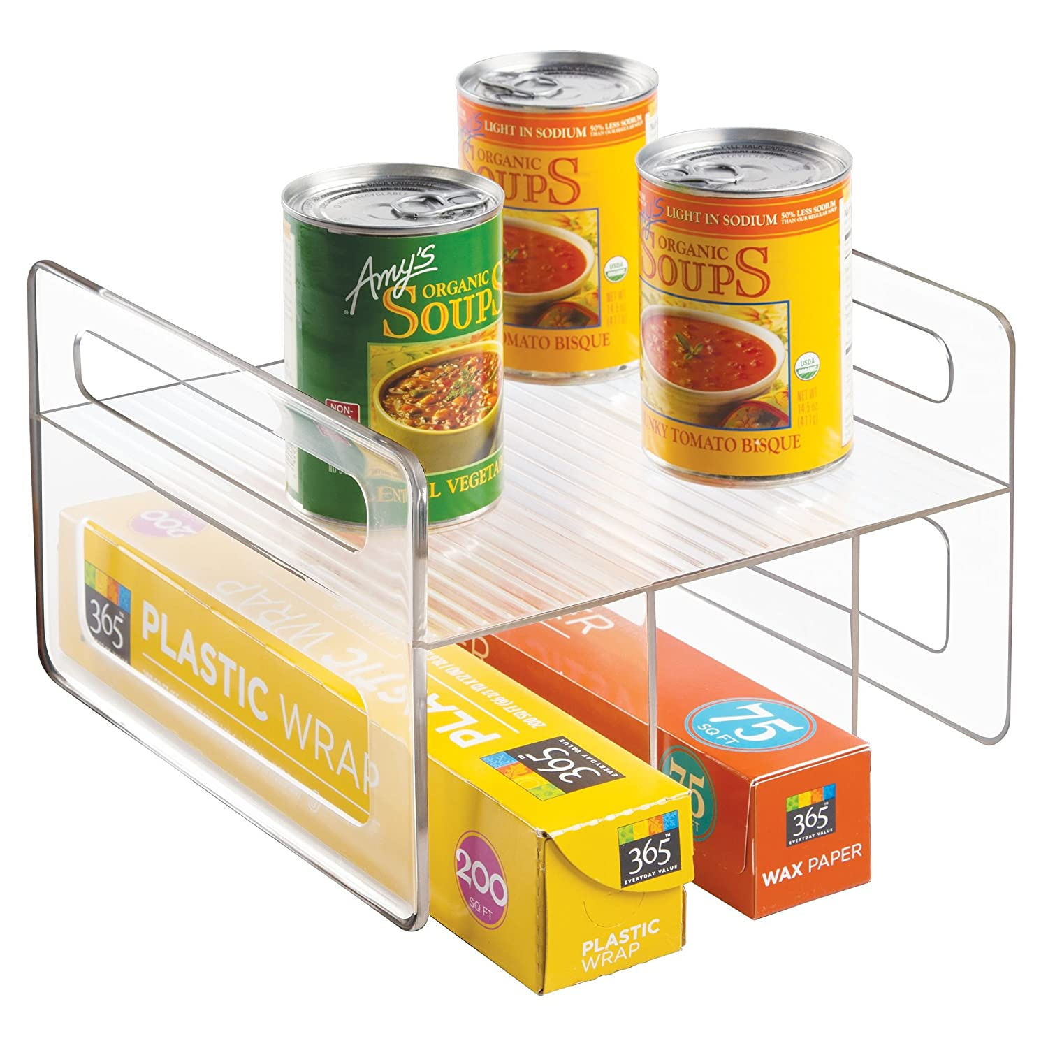 BPA-Free Counter 10.25 x 9.5 x 4 Clear Pantry 1//8 Wedge Container for Kitchen InterDesign Plastic  Lazy Susan Cabinet Storage Bin
