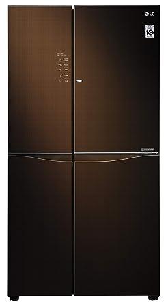 LG 675 L Inverter Linear Door-in-Door Side-by-Side Refrigerator (GC-M247UGLN, Linen Brown, LG ThinQ)