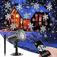 SUPCHON Luces de Proyector Navidad, Luz de la Caída de Nieve del LED Control Remoto Navidad Nieve Lámpara, con RF…