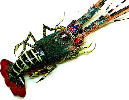 Lobster Parisloft 3D Wood and Galvanized Ocean Theme Wall Hanging Decor Rustic Farmhouse Lobster or Shrimp Shaped Decor