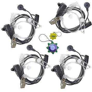 HQRP Cuatro 2-Pin Micro-Auriculares Micrófonos Tubo Acústico para