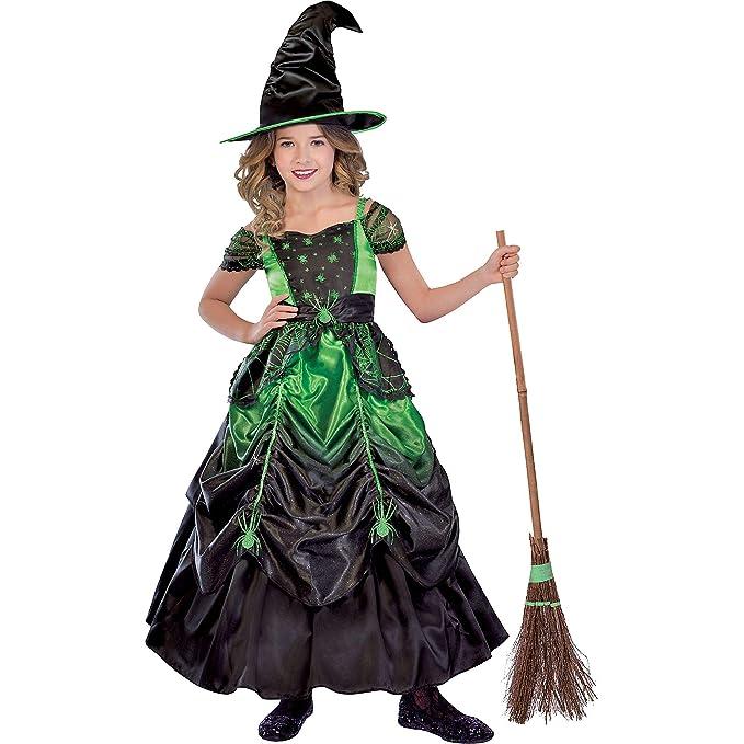 Amazon.com: Traje de bruja gótico para niñas, incluye un ...