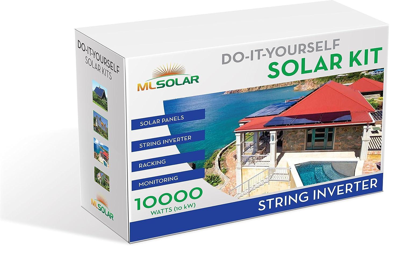 Amazon.com: 10Kw Complete DIY Solar Kit 260W Watt REC Solar Panels SMA  SunnyBoy String Inverter Roof Tech Rail Less Racking: Kitchen U0026 Dining