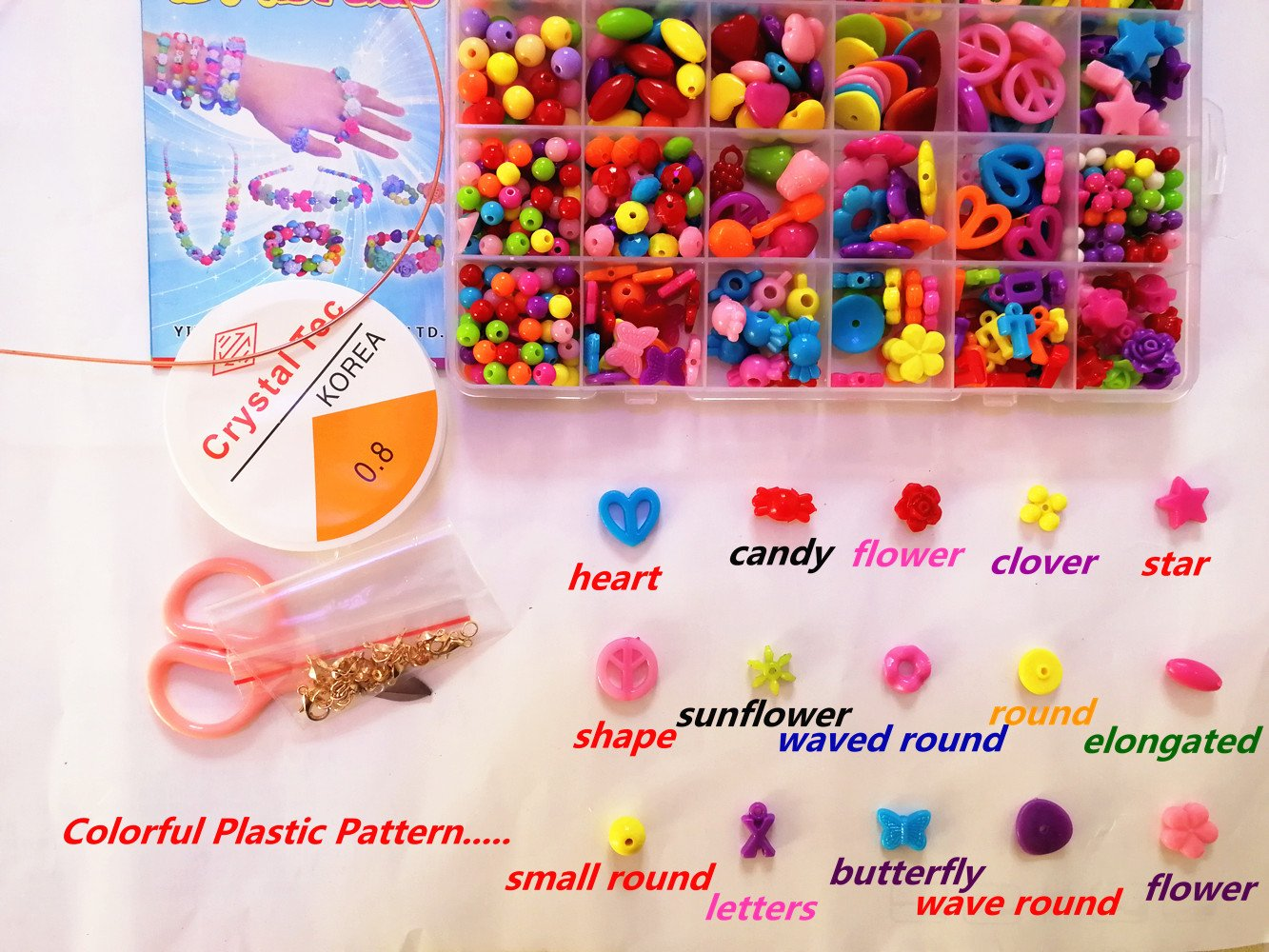 Amazon.com: Vytung Beads Set for Jewelry Making Kids Adults Children ...