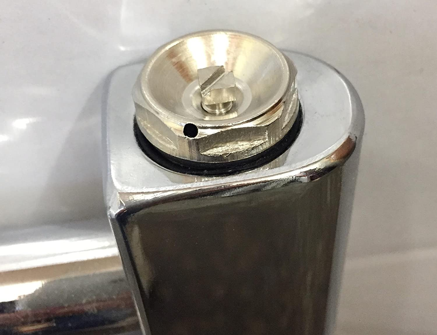 Chrome Cover Cap for Towel Rail Radiator blanking plug and air vent ...