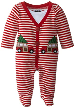Amazon.com: Mud Pie Baby-Boys Newborn My First Christmas Footed One ...