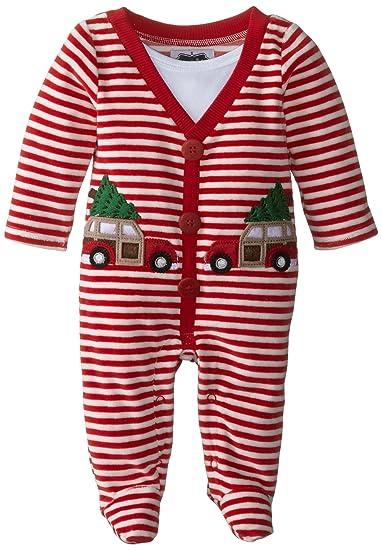 3938501264 Amazon.com  Mud Pie Baby-Boys Newborn My First Christmas Footed One Piece   Clothing