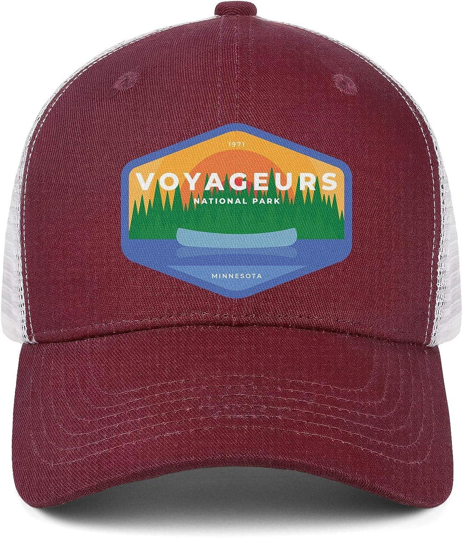 Mens Women Voyageurs-National-Park Cap Retro Running Caps Hat