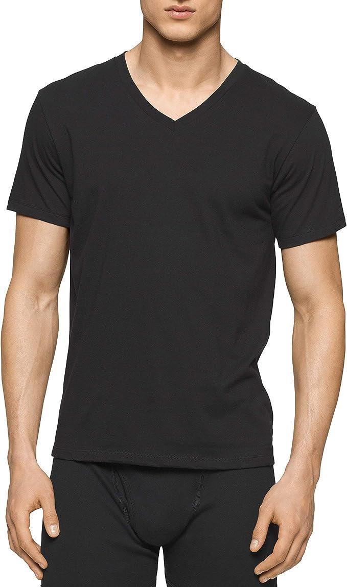 Calvin Klein CK 卡尔文克莱因 纯棉 男士V领T恤*3件套 5.3折$20.71 海淘转运到手约¥178