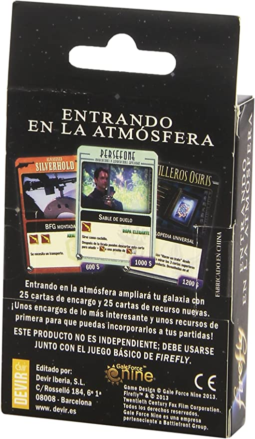 Devir - Firefly 2: Entrando en la atmósfera, el Juego (221671): Amazon.es: Juguetes y juegos