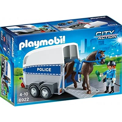 Playmobil 6922 City Action Police with Horse and Trailer: Toys & Games
