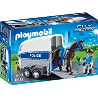 Playmobil Police with Horse and Trailer Playset Toy