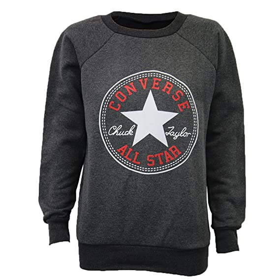 Converse Damen Sweatshirt Chuck Taylor All Star Fleece Gefüttertes Freizeit Sweatshirt