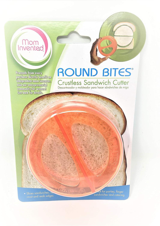 Ginsey Round Bites Sandwich Cutters in Clear Orange