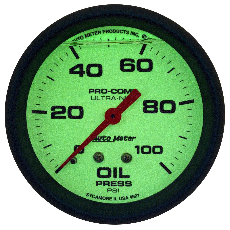 Auto Meter 4221 Ultra-Nite Oil Pressure Gauge