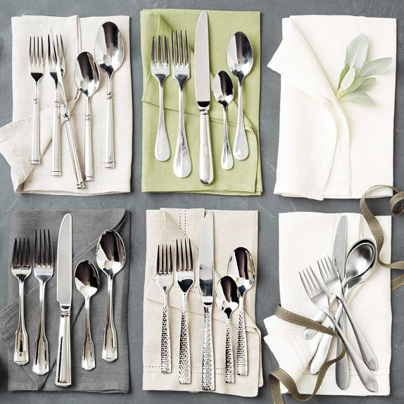 Lucca Faceted Flatware Placesetting | Williams-Sonoma