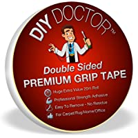 DIY Doctor DDT Xtra Strong Double Sided Carpet Rug Gripper Tape-Ultimate Grip Strength-Bonds to Almost Anything But Leaves No Marks-So Many Uses, 21mm x 20m
