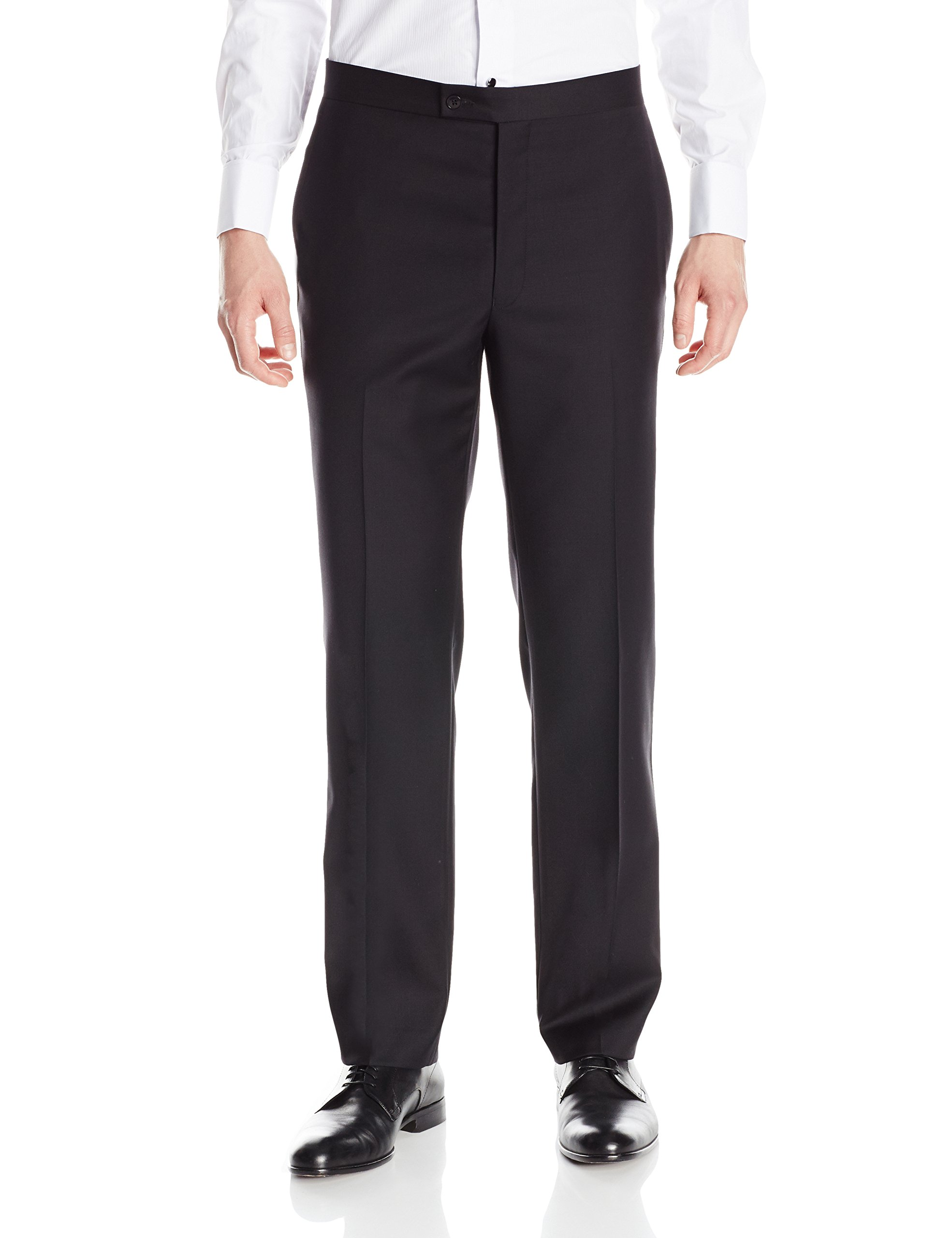 Calvin Klein Men's Modern Fit 100% Wool Tuxedo Suit Separate (Blazer and Pant), Black Pant, 36 X 32 by Calvin Klein