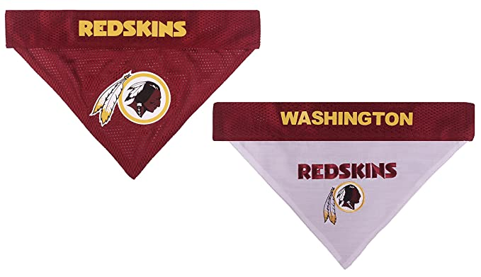 NFL REVERSIBLE BANDANA for DOGS   CATS +Washington Redskins+. Size  Small Medium. - Soft Mesh   Premium Embroidery TEAM SCARF BANDANA. DOG  Birthdays a8a74d3eb