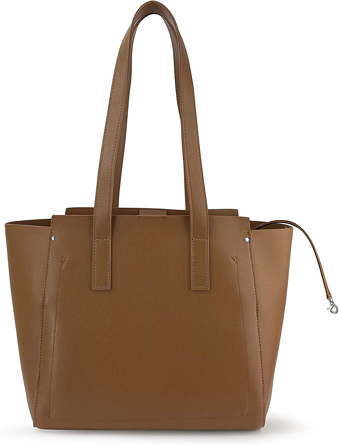 Women Tote Multiple Pockets Organized Shoulder Handbag for Work and Weekend, Office Lady Leather Bag