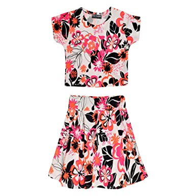 2c928fdb709c2 A2Z 4 Kids® Kids Girls Floral Tropical Stylish Crop Top & Fashion Skater  Skirt Set Age 7 8 9 10 11 12 13 Years: Amazon.co.uk: Clothing