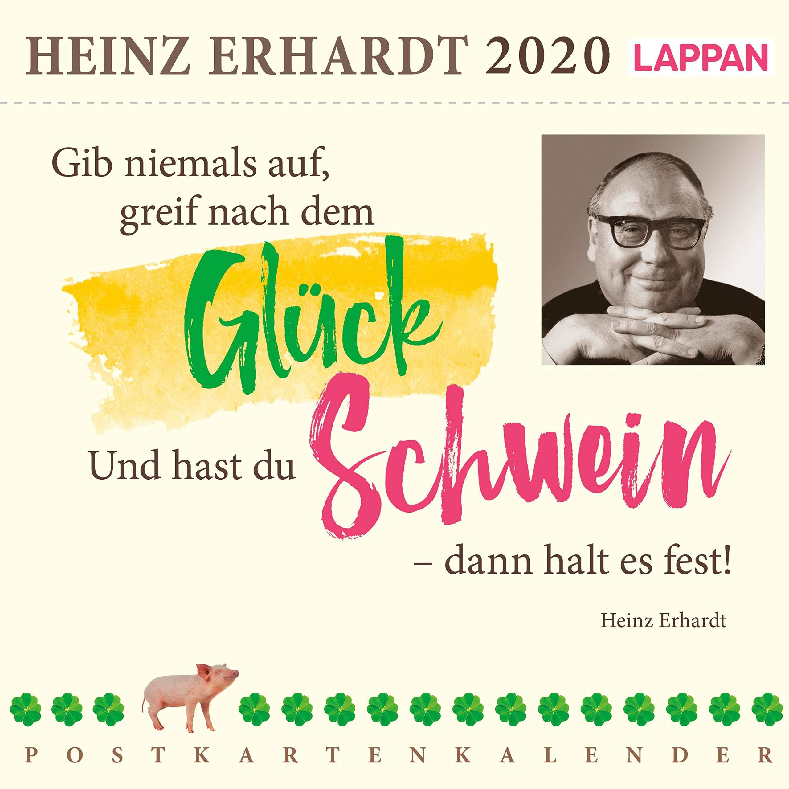 Gib Niemals Auf Greif Nach Dem Glück 2020 – Ein Heinz Erhardt Postkartenkalender  Heinz Erhardt Postkartenkalender