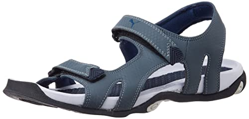 11cd25a61cb2 Puma Men s Jamey DP Turbulence and Insignia Blue Athletic   Outdoor Sandals  - 11 UK