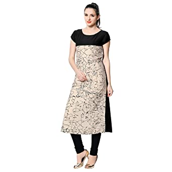Vaamsi Crepe Digital Printed Kurti( Women's Kurtas & Kurtis at amazon
