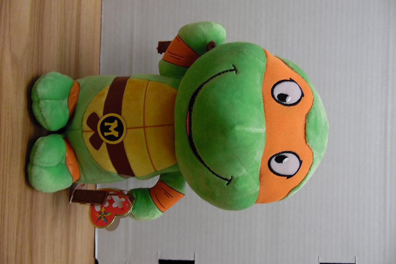 """Ty Michelangelo Teenage Mutant Ninja Turtles 10"""" Medium Sized Plush"""