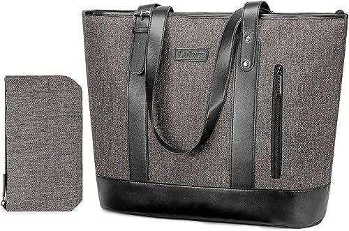 UTOTEBAG 15.6 Inch Women Laptop Tote Bag Classic Shoulder Bag Compatible Notebook Ultrabook Handle Adjustable Handbag Briefcase