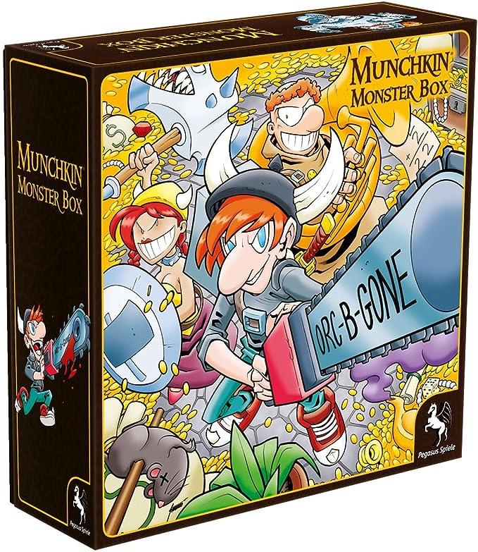 Pegasus Juegos 17027 g – Munchkin Monster Box Cover 1 Juego de Cartas: Amazon.es: Juguetes y juegos