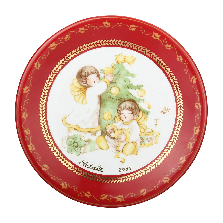 Thun Dessertteller Deko Dolce Weihnachten Porzellan 19 cm Ø: Amazon ...