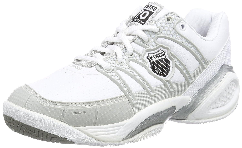 K-Swiss Performance KS Tfw Defier DS-Wht/Ltgry/Rspbrryrse, Zapatillas de Tenis para Mujer 92418