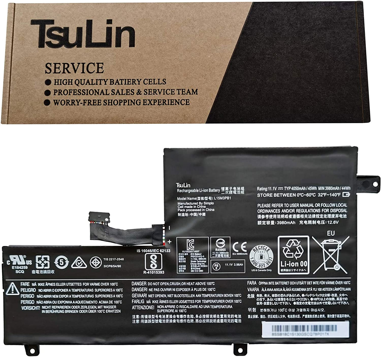 TsuLin L15M3PB1 Laptop Battery Replacement for Lenovo N22 N22-10 N22-20 N22 Touch N23 N23 Touch N23 Yoga N42 N42-20 Chromebook C330 S330 Series Notebook L15L3PB1 11.1V 45Wh 4050mAh