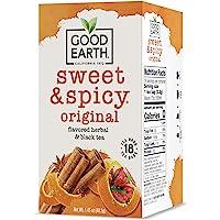 Good Earth Herbal & Black Tea, Sweet & Spicy, 18 Tea Bags (Packaging May Vary)