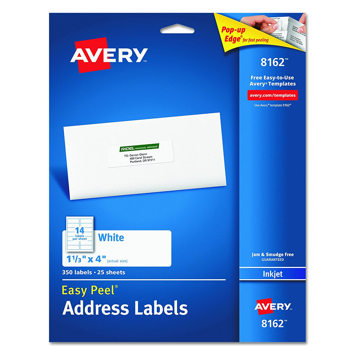 Avery template 8161 gallery templates human services resume templates amazoncom avery easy peel address labels for inkjet printers 1 81cwg1jc nl b00008xpl6 avery template 8161 gallery templates pronofoot35fo Images