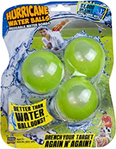Prime Time Toys Hurricane Reusable Water Balls Toy (3-Pack/Colors May Vary) (8351-3PK)