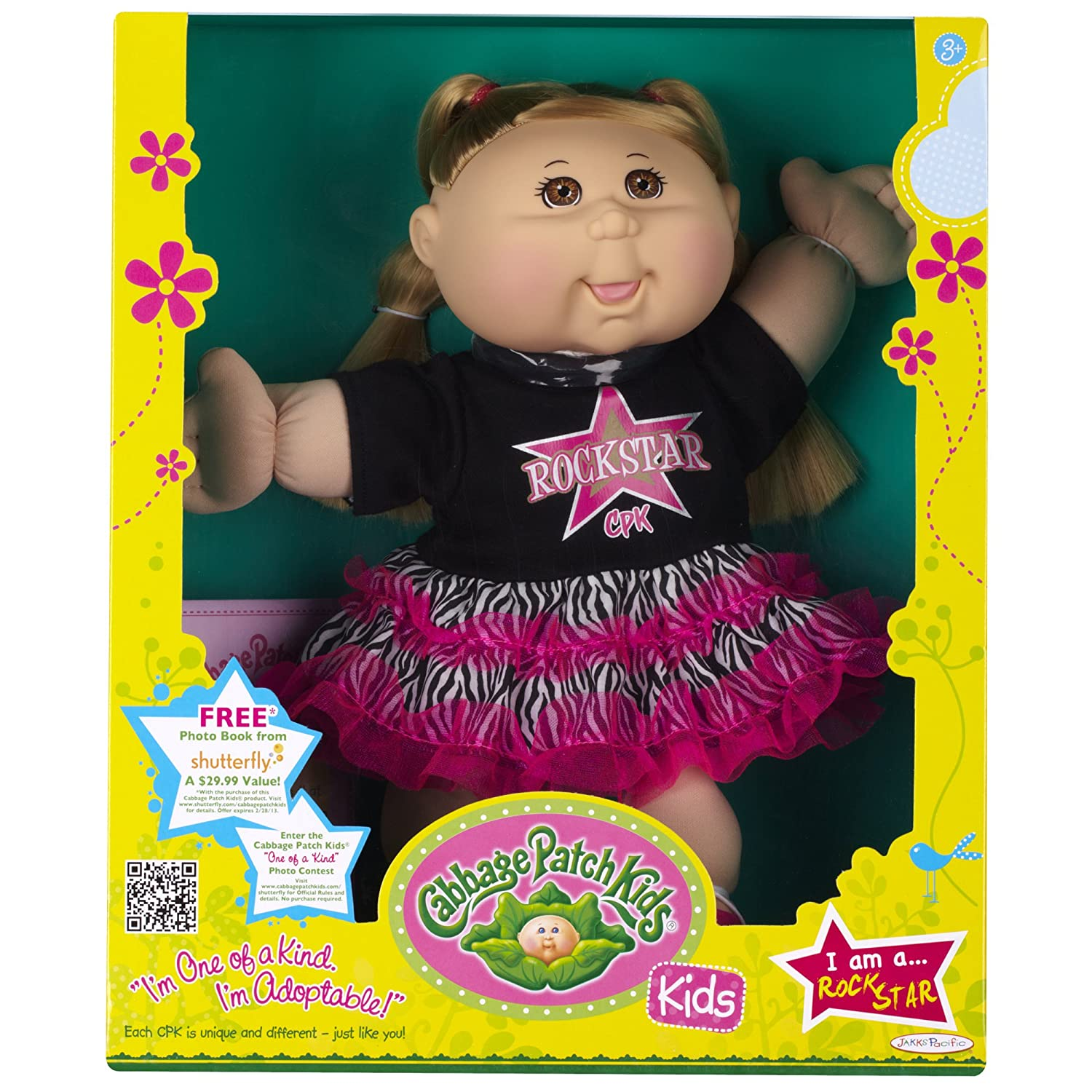 Amazon Cabbage Patch Kids Doll Rock Star Caucasian Girl