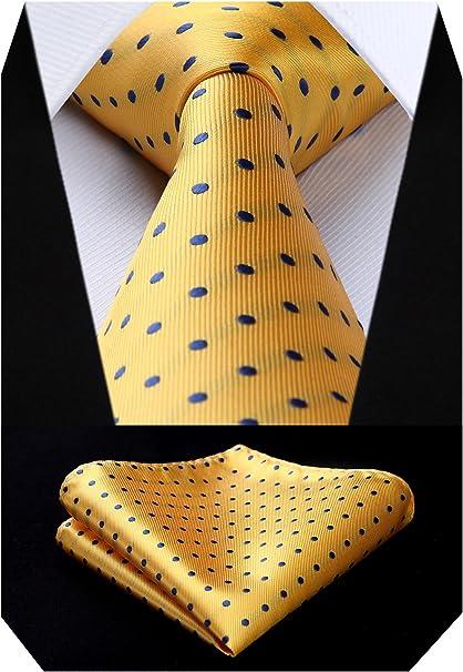 BIYINI Corbata y panuelo de corbata con diseno de jacquard Woven ...