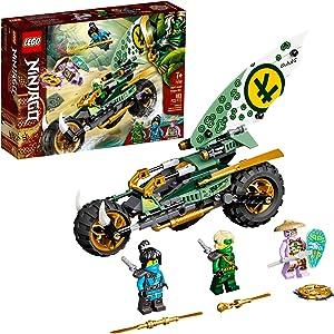 LEGO NINJAGO Lloyd's Jungle Chopper Bike 71745 Building Kit; Ninja Bike Toy Featuring NINJAGO Lloyd and NYA Minifigures, New 2021 (183 Pieces); Top Toy for Kids Who Love Action-Packed Creative Play