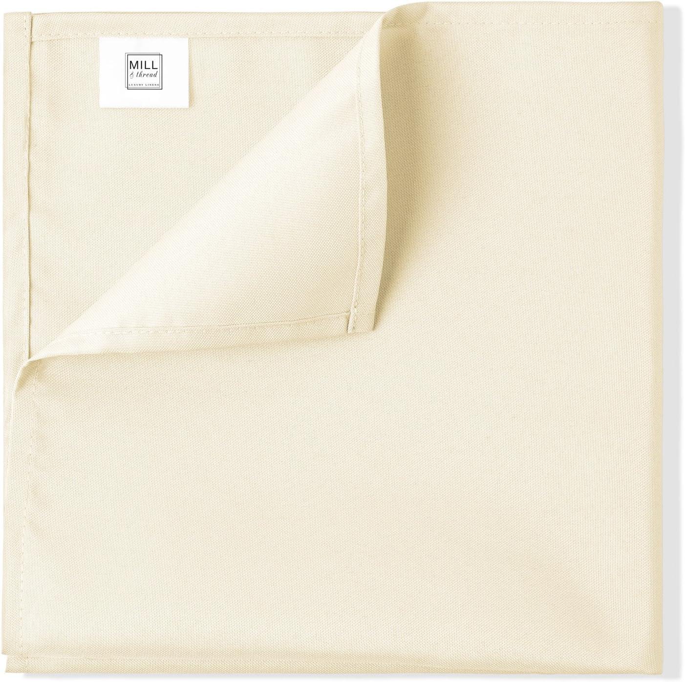 1 Dozen 20 Oversized Cloth Dinner Table Napkins White Machine Washable Restaurant//Wedding//Hotel Quality Polyester Fabric Mill /& Thread